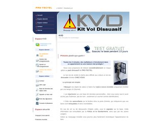 screenshot http://www.pro-tectel.com Alarme sans fil