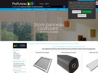 screenshot http://www.profilstores.com Profilstores store et moustiquaire