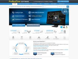 screenshot http://www.prorealtime.com/fr/ Logiciel de bourse