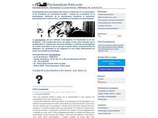 screenshot http://www.psychanalyste-paris.com Christophe bormans - psychanalyste-paris.com