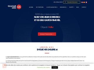 screenshot http://www.quasar-solutions.fr Quasar solutions - leader en logiciel spc