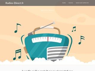 screenshot http://www.radios-direct.fr/ Ecouter la radio en direct - webradio