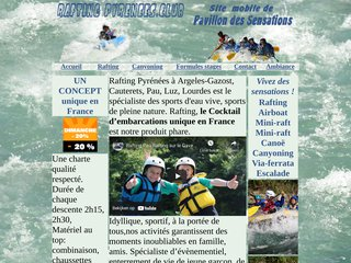 screenshot http://www.rafting-canyoning-pyrenees.com <title>ANNUAIRE NOOGLE.  webmaster connect</title>