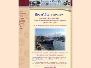 screenshot http://www.rocandbol.com Roc n' bol : poterie et chambres d'hôtes en bord