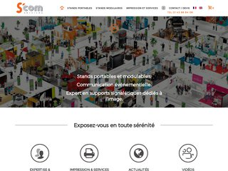 S'COM - STAND PORTABLE – STAND MODULABLE, IMPRESSIONS ET SERVICES.
