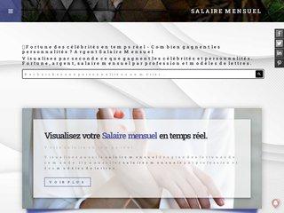 screenshot http://www.salaire-mensuel.com Calculez et évaluez votre salaire mensuel - suis j