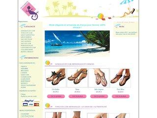 screenshot http://www.sandales-en-cuir.com Vente sandales tong sexy cuir noir regsummers