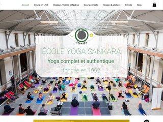 screenshot http://www.sankara.fr Hatha yoga sankara association