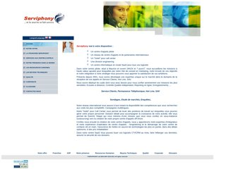 screenshot http://www.serviphony.com Serviphony, centre d'appels