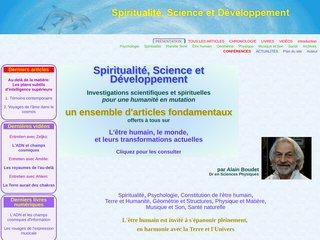 screenshot http://www.spirit-science.fr Spiritualité, science et développement