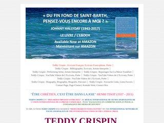 screenshot http://www.teddycrispin.com/ Teddy crispin : auteur