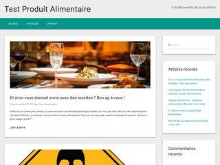 screenshot http://www.test-produit-alimentaire.com/ Avis alimentaire : donnez votre avis