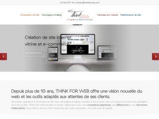 screenshot http://www.thinkforweb.com Think for web: creation de site internet