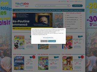 screenshot http://www.toutabo.com Toutabo abonnements presse à prix réduits