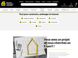 screenshot http://www.toutfaire.fr Tout faire : negoce de materiaux de construction