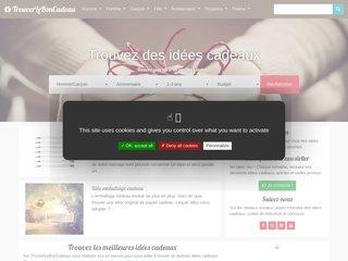 screenshot http://www.trouverleboncadeau.com
