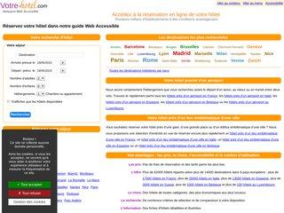 screenshot http://www.votre-hotel.com Accédez à la réservation de votre hôtel
