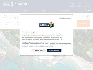 screenshot http://www.voyages-robin.fr Agence de voyages robin