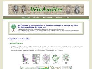 screenshot http://www.winancetre.com Logiciel winancêtre