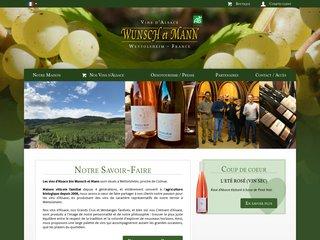 screenshot http://www.wunsch-mann.fr Wunsch et mann -- grands vins d'alsace