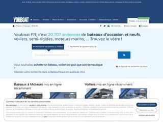 screenshot http://www.youboat.fr Youboat  annonces de bateau occasion, bateau neuf