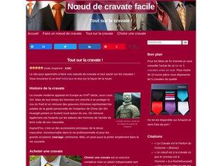 screenshot https://www.noeud-de-cravate-facile.com