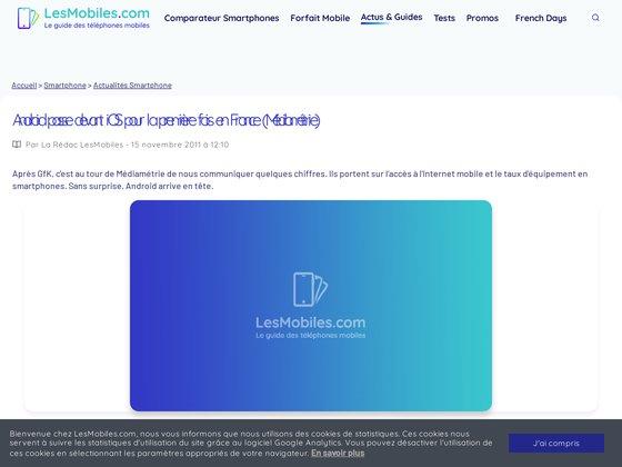 Consulter l'article sur http://www.lesmobiles.com/actualite/6579-android-passe-devant-ios-pour-la-premiere-fois-en-france-mediametrie.html