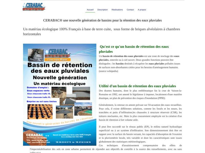 Bassin de rétention eaux pluviales cerabac 100% Français bassin écologique