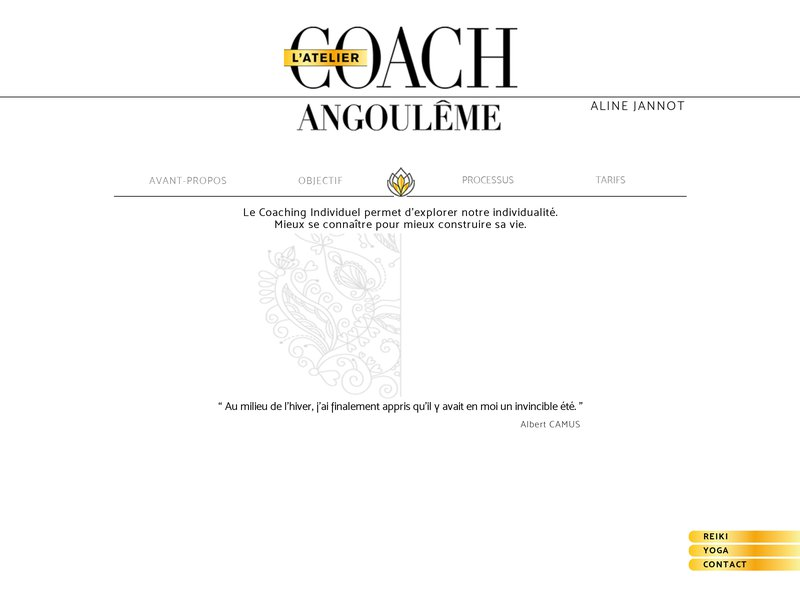 Coaching l'atelier Angoulême