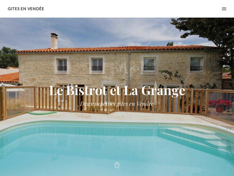 Gite en Vendée La Grange et location gite en Vendée Le Bistrot