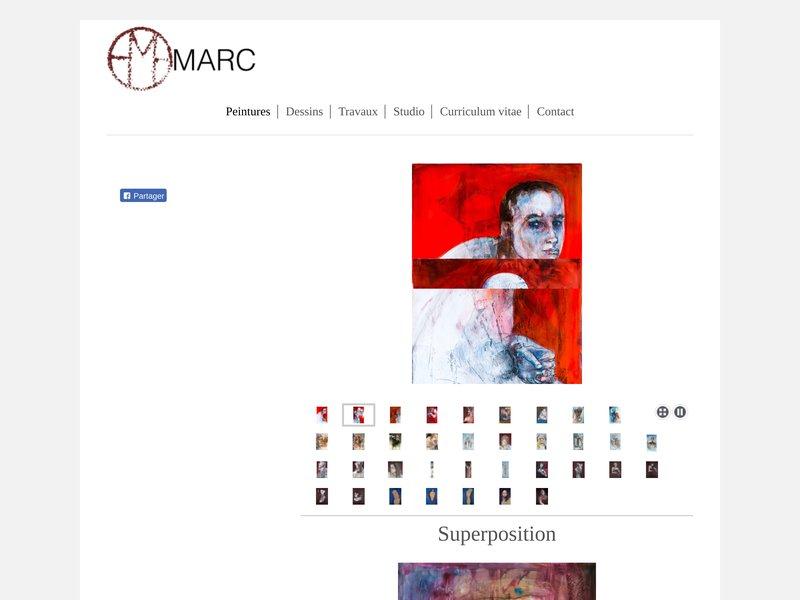 Marc sylvie est une artiste peintre expressionniste.
