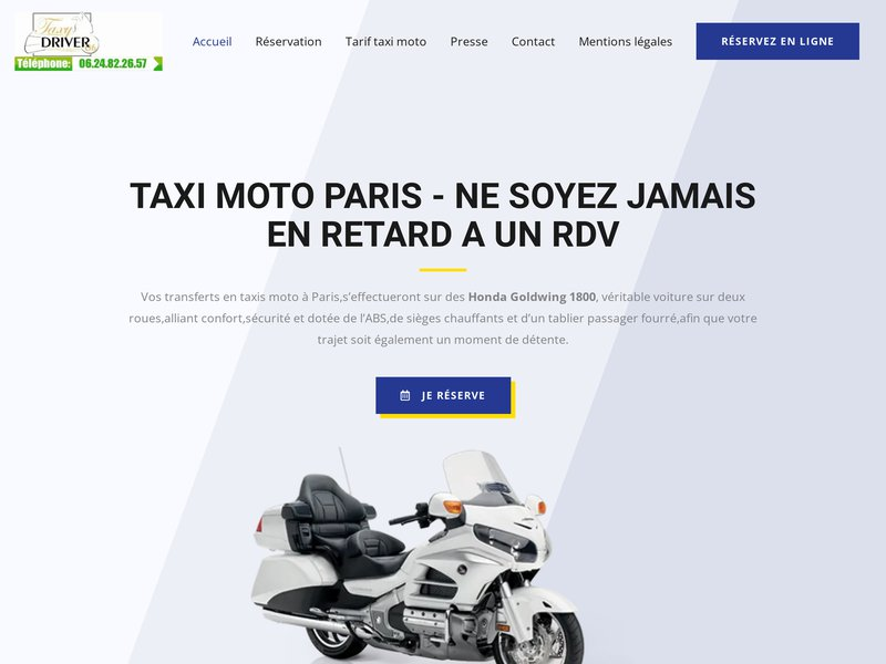 Votre taxi moto à Paris.
