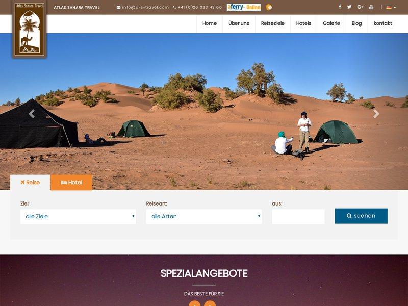 Atlas Sahara Travel der Spezialist für Aktiv. und Kulturreisen in Marokko; Wanderreisen, Kameltrekking in der Wüste und Reittouren