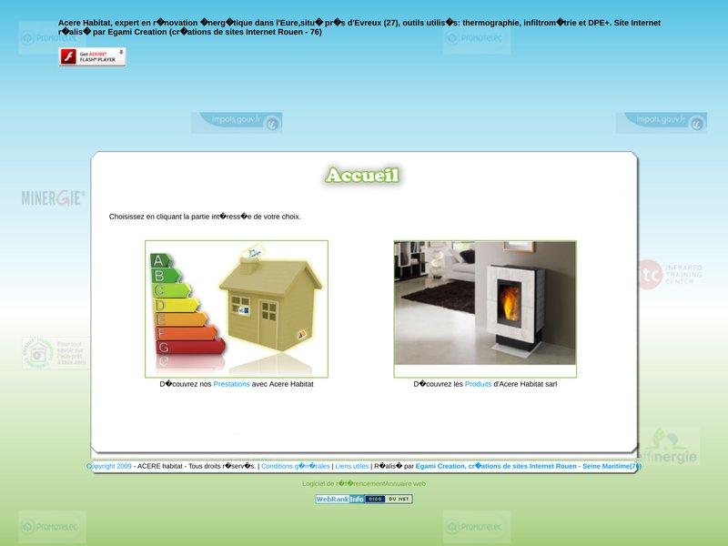 Bienvenue sur Acere Habitat... Agence de conseils et d'expertises en renovation energetique..