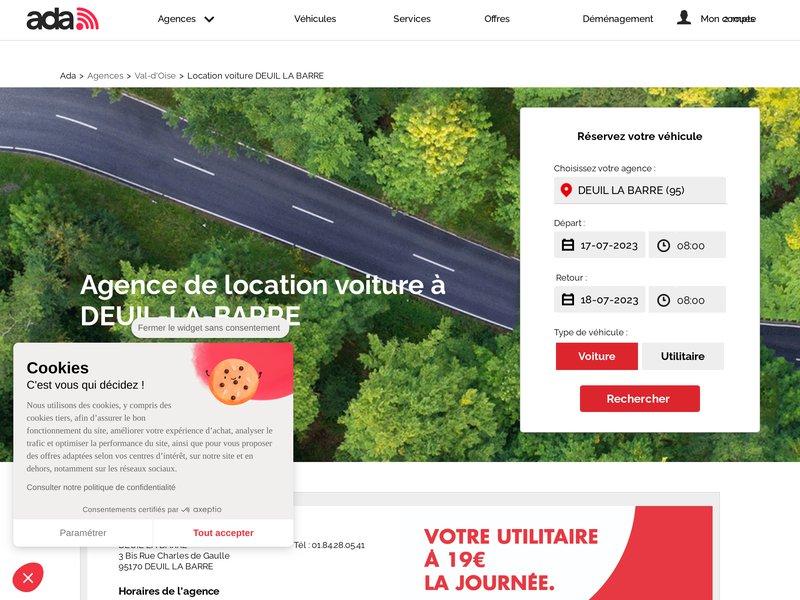 Location de voiture et d'utilitaire a Deuil La Barre