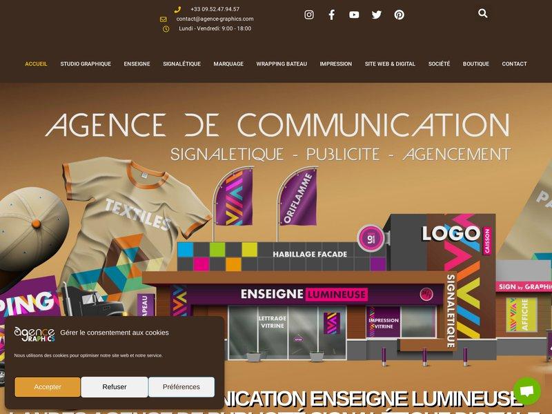 Agence.Graphics - Communication, Graphisme, Publicité, Print, Création site, Impression, Carte de visite, Flyer, Logo