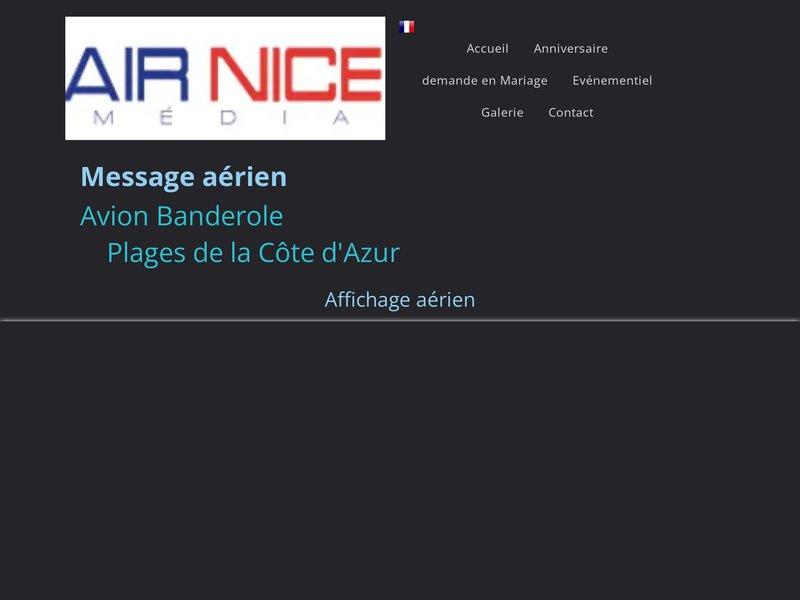 Banderole aérienne sur les plages Côte d'Azur