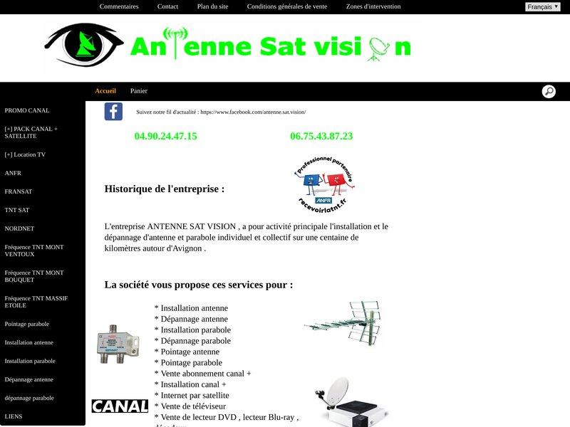 Antenne Sat Vision 04.90.24.47.15. Installation et dépannage d'antenne hertzienne et parabole satellite individuel et collectif, vente d'abonnement canal , internet par satellite sur avignon