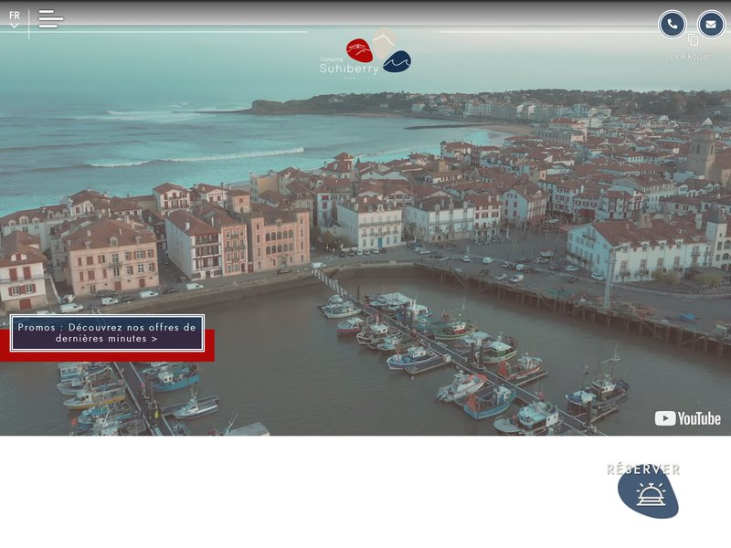 Camping Pays Basque - Camping Suhiberry **** sur la Cote Basque