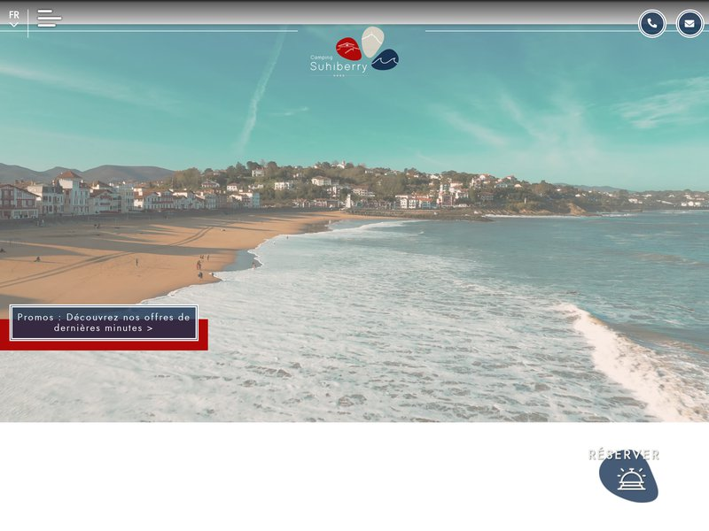 Camping Pyrénées Atlantiques - Camping Suhiberry **** à Urrugne dans le 64