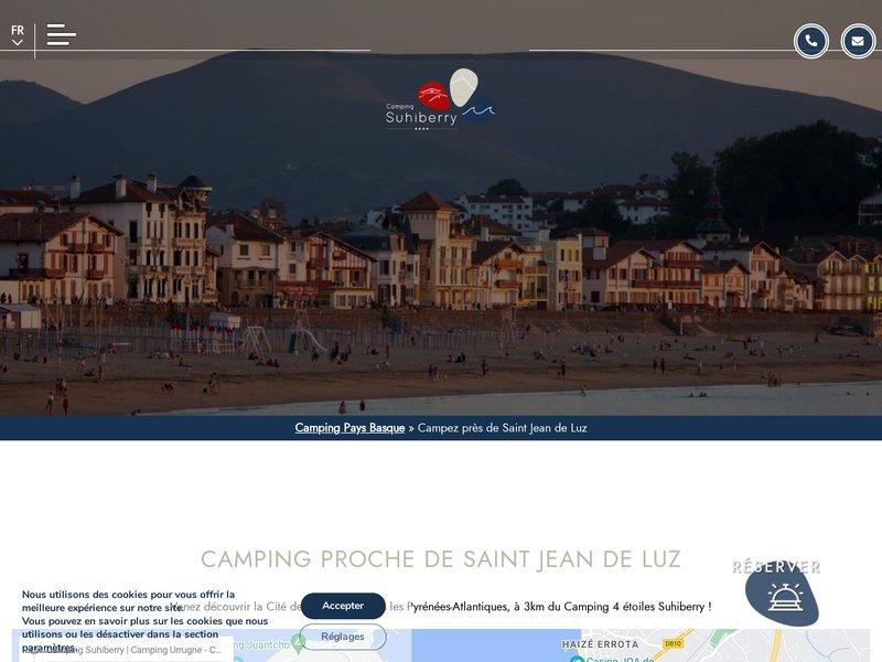 Camping St Jean de Luz - Camping Suhiberry **** à Urrugne (64)