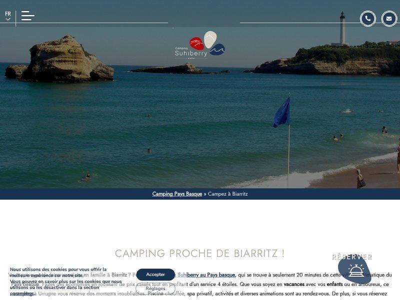 Vacances Biarritz - Camping Suhiberry **** à Urrugne (64)