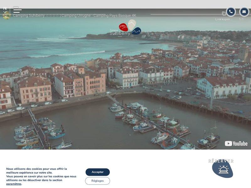 Vacances Cote Basque - Camping Suhiberry **** dans le Pays Basque à Urrugne