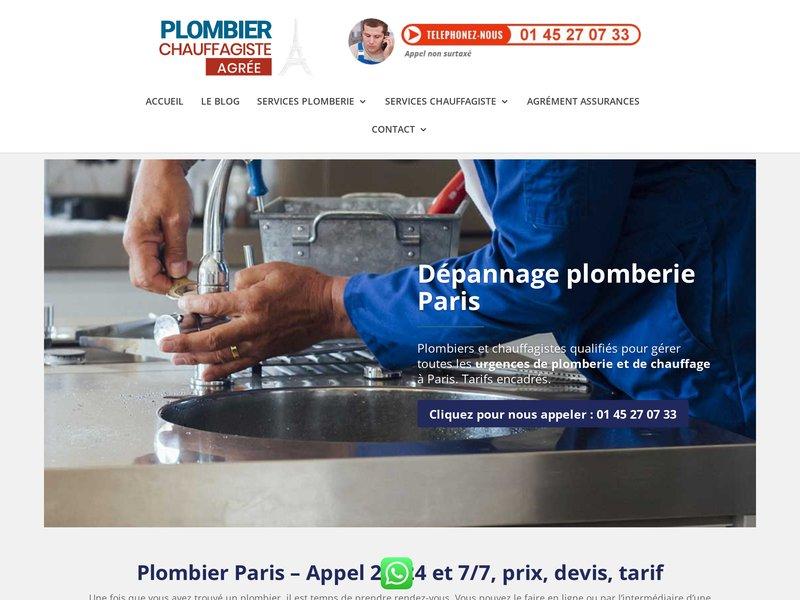 Plombier Paris urgence et dépannage 24 heures sur 24