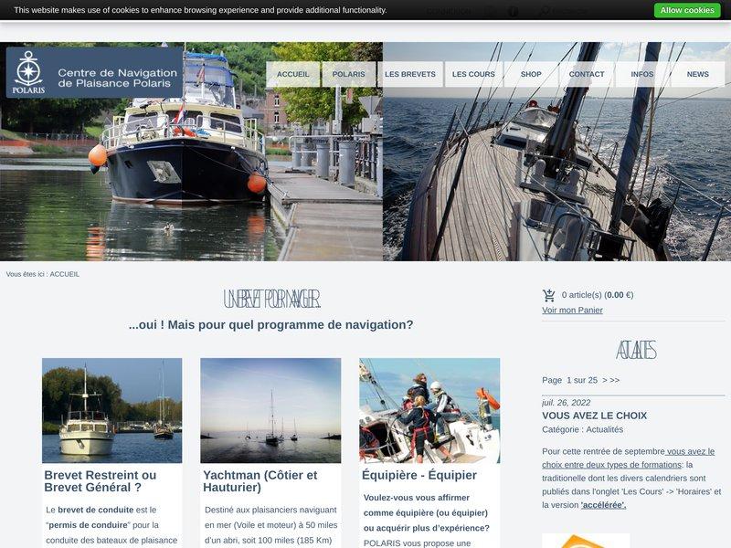 POLARIS: école et club de navigation. Nous vous préparons pour le brevet général, ICC, Yachtman, Navigateur de Yacht, chef de bord côtier et hauturier.