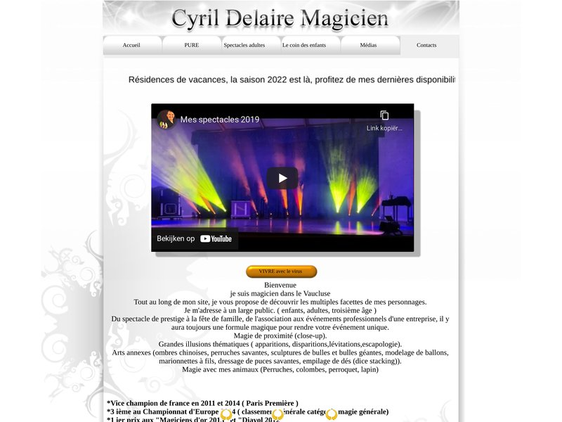 Cyril Delaire magicien, Vaucluse, Drôme, Bouches du Rhône, Gard, Hérault. spectacles, animation, ill