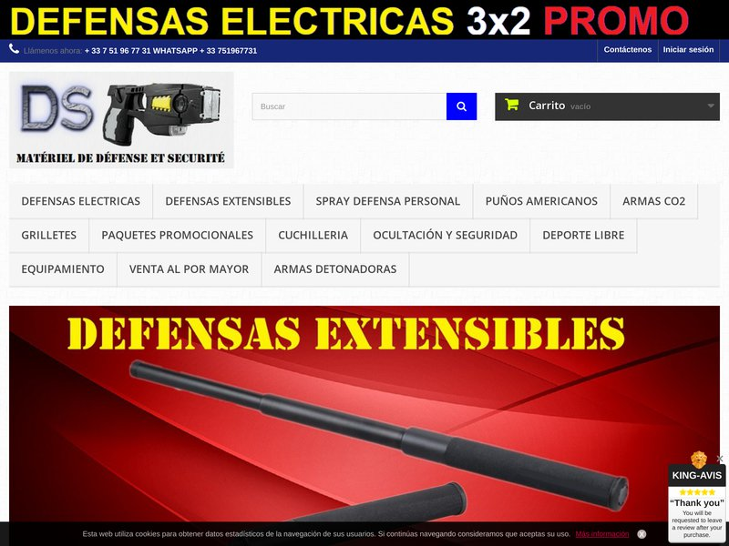 Defensas extensibles , defensas electricas , puños americanos . DEFENSE-SECURITY