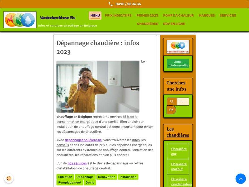 Dépannage chaudière Bruxelles, entretien et dépannage en plomberie et chauffage.
