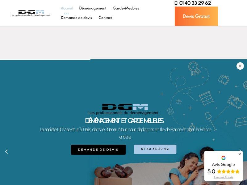 DGM Déménagement Garde Meubles Parisien déménageur Paris 20