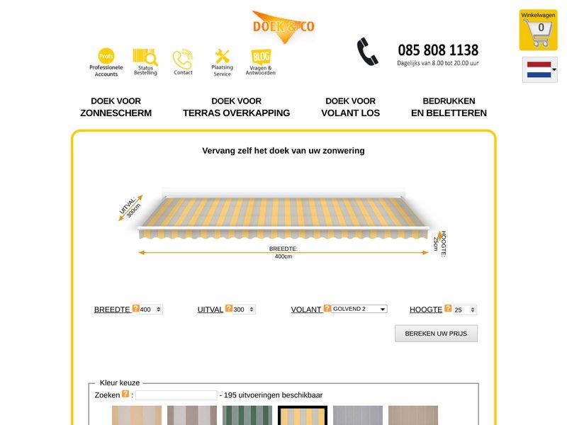 ZONNESCHERM DOEK OP MAAT | Doek & Co.nl